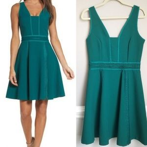 New Adelyn Rae Gayle Fit n Flare Dress Green